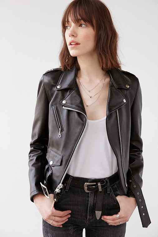 Schott Perfecto Leather Moto Jacket,BLACK,M