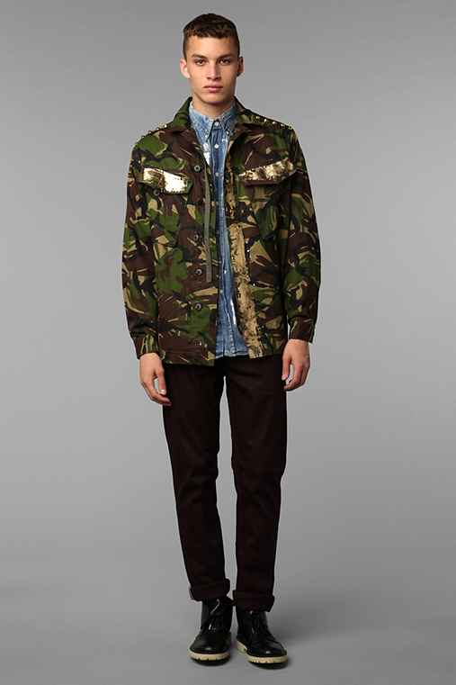 Rag Union X Urban Renewal Foiled Camo Jacket