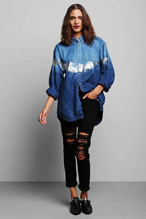 Rag Union x Urban Renewal Ombre Foiled Shirt