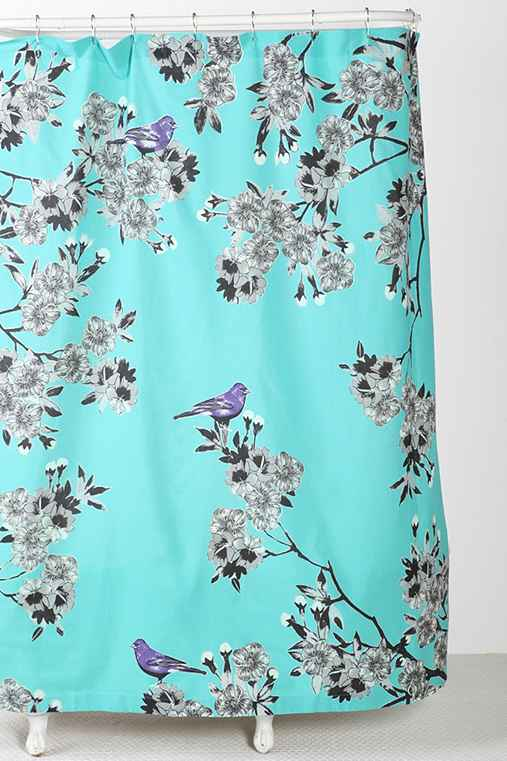 Plum & Bow Bird Blossom Shower Curtain