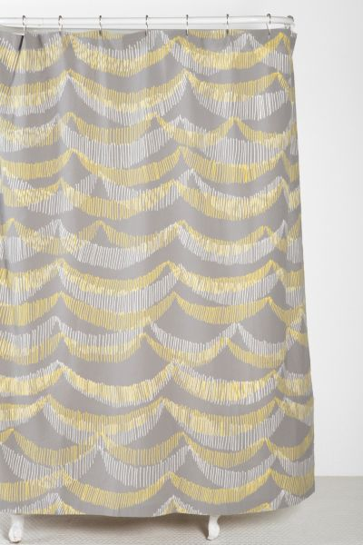 Plum & Bow Banner Shower Curtain