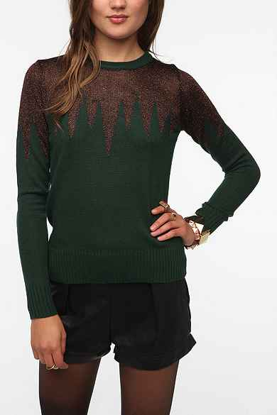 Lucca Couture Metallic Icicle Sweater