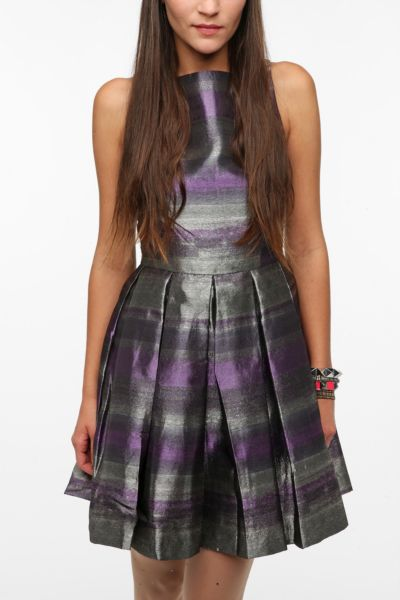 BB Dakota Jacquard Striped Jensine Dress