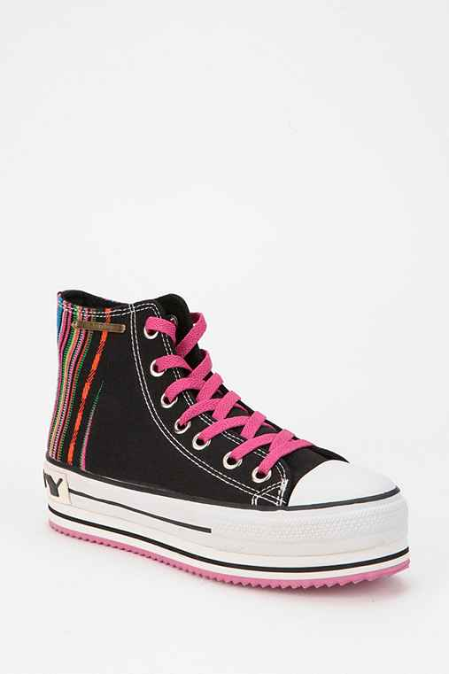 Rock & Candy by Zigi Stripe High-Top Flatform-Sneaker
