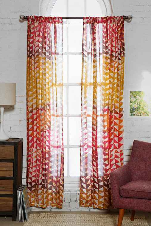 Magical Thinking Swaying Triangle Curtain