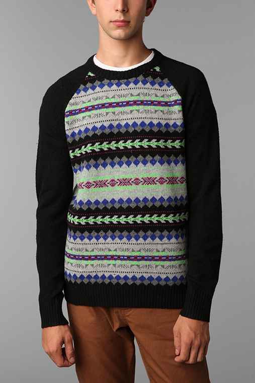O'Hanlon Mills Blocked Fair Isle Crew Sweater