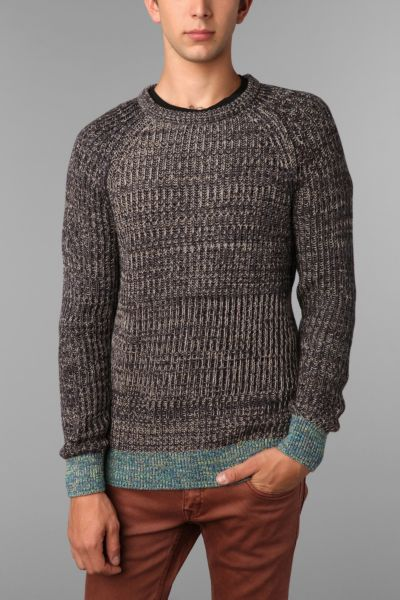 Koto Marled Terry Crew Sweater