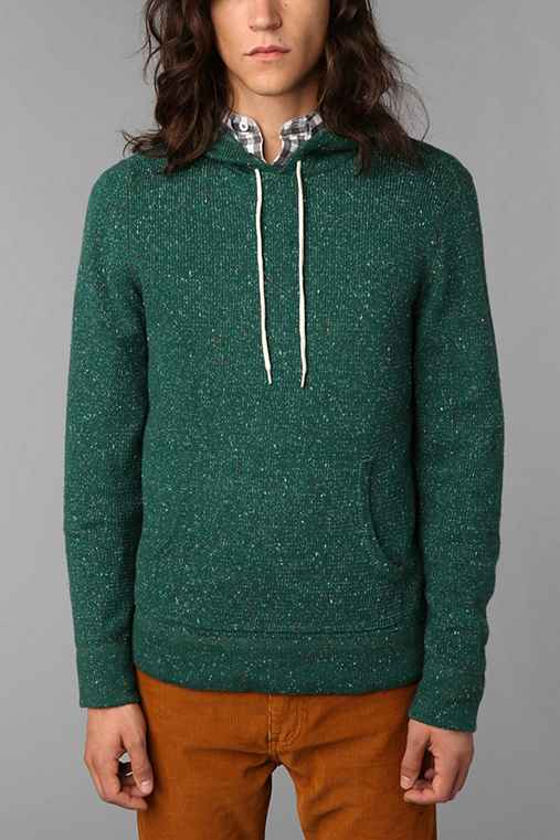 Koto Flecked Hooded Pullover Sweater
