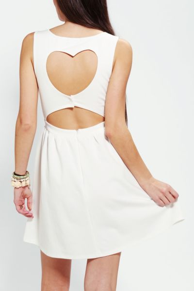 Heart Cutout Back Dress