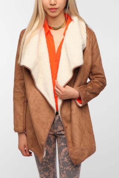 MINKPINK Great Heights Faux Shearling Jacket