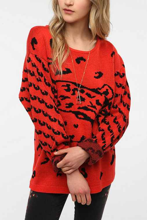 MINKPINK Once A Cheetah Pullover Sweater