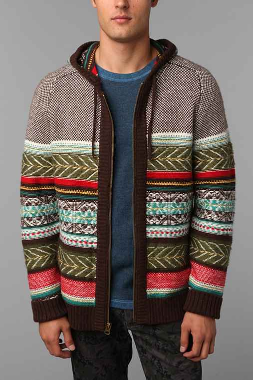 Koto Reverse Pattern Hooded Sweater