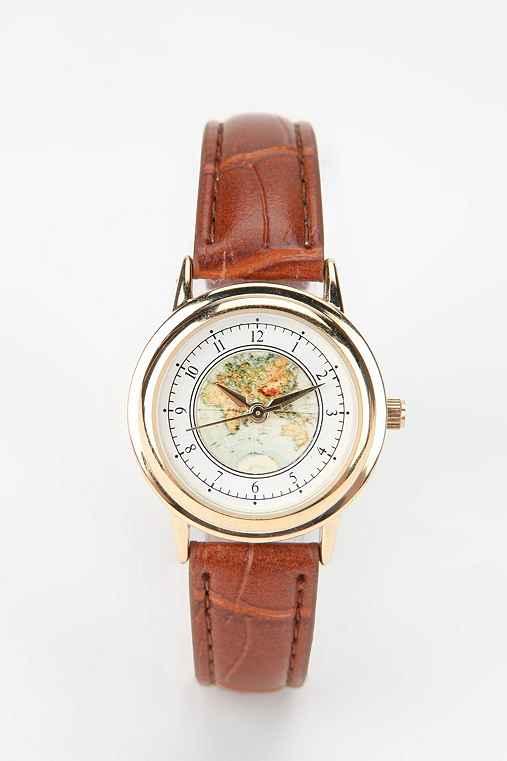 Globe Watch,BROWN,ONE SIZE
