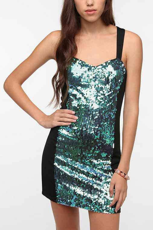 MINKPINK Splash Sequin Dress