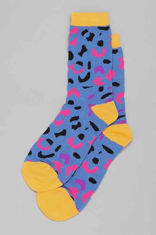 Abstract Cheetah Sock