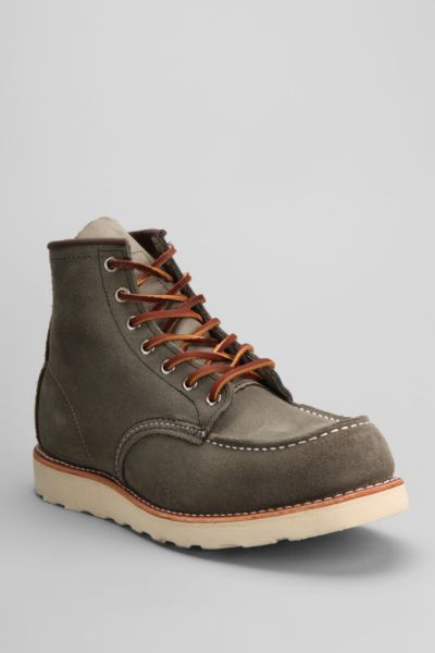 "Red Wing 6"" Suede Moc Toe Work Boot"