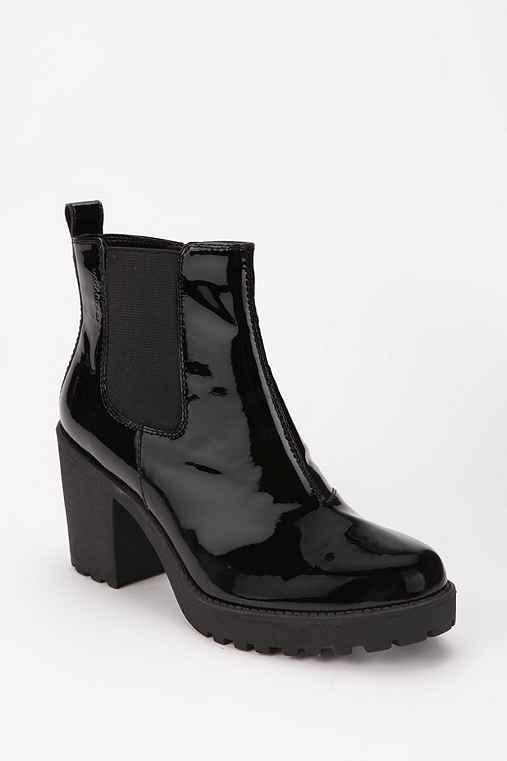 Vagabond Patent Leather Ankle Boot