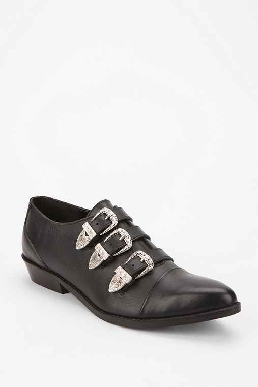 Ecote Multi-Buckle Pointed Toe Oxford