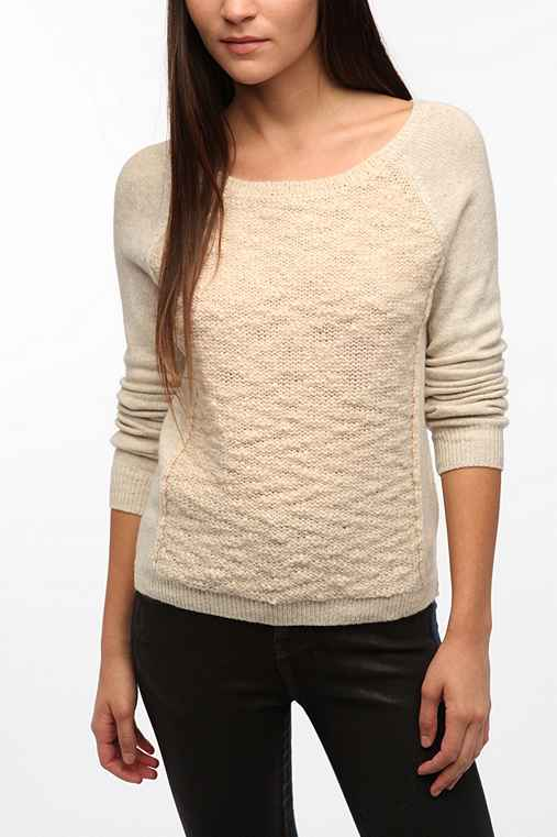 Silence + Noise Boucle Panel Sweater