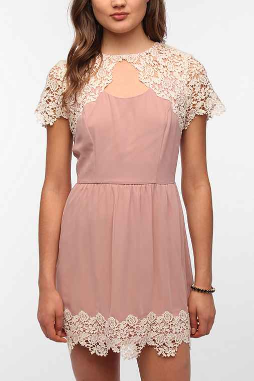 Pins and Needles Lace Caplet Dress