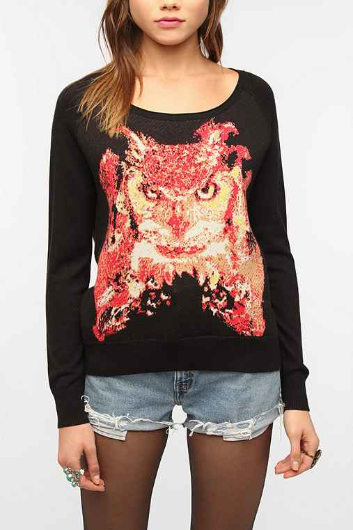 Silence & Noise Pixilated Animal Sweater