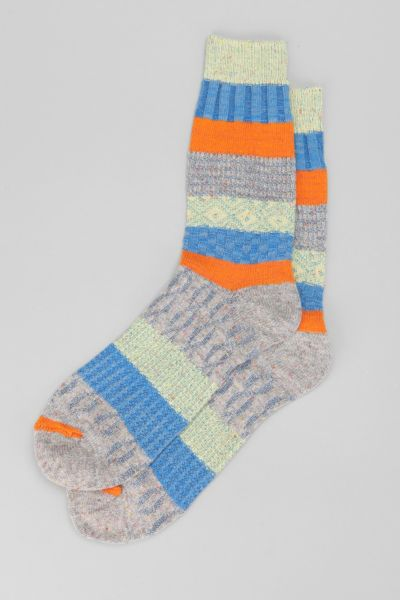 O'Hanlon Mills Colorblock Camp Sock