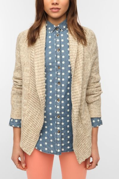 BDG Double Trouble Shawl Collar Cardigan