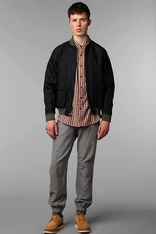 The Tourist by Burkman Bros Denim Bomber Jacket