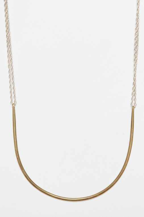 Lila Rice Two Way Arc Necklace