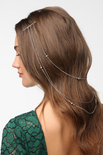Double Drape-Chain Bead Bobby Pin