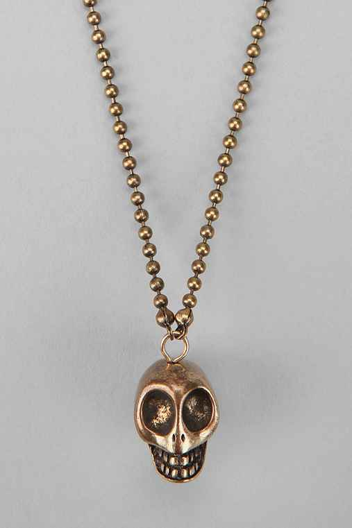 Brass Skull Necklace