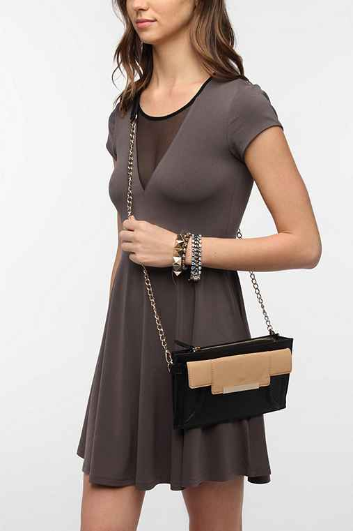 Cooperative Colorblock Metal Touch Crossbody Bag