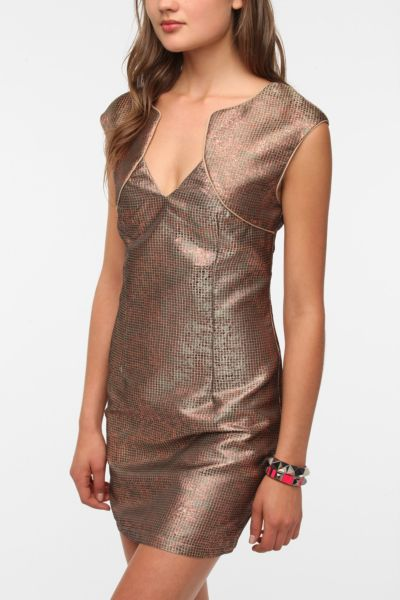 Ladakh Shop Around Metallic Sheath Dress