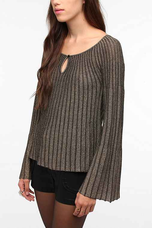 Staring at Stars Metallic Bell Sleeve Sweater