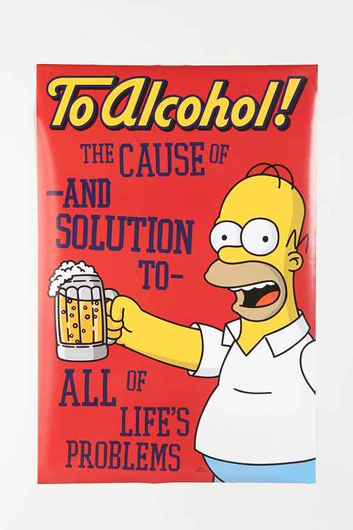 To Alcohol! Simpsons Poster