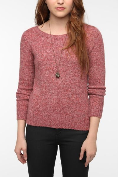 Silence & Noise Fuzzy Zip-Back Sweater