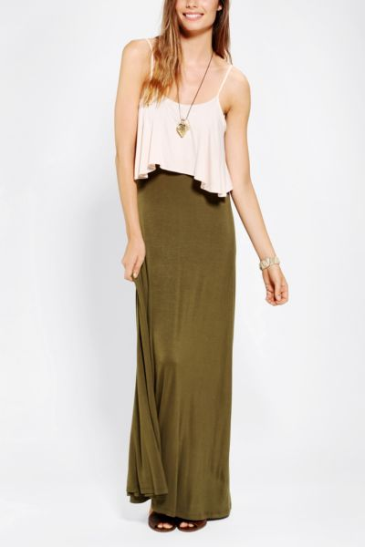 Staring At Stars Knit Layered Maxi Dress