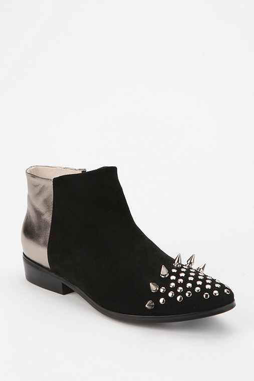 Messeca Titan Metallic Spike Ankle Boot