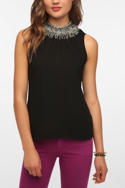 Pins And Needles Chandelier Neck Blouse