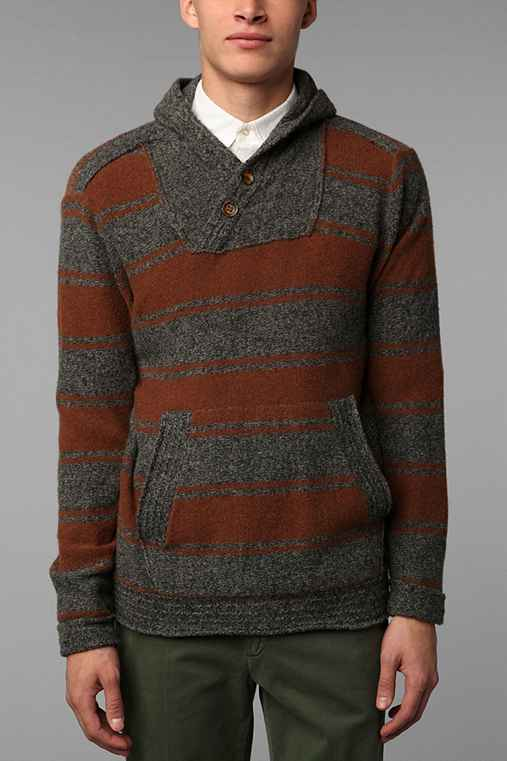 VBN Hooded Barstripe Sweater
