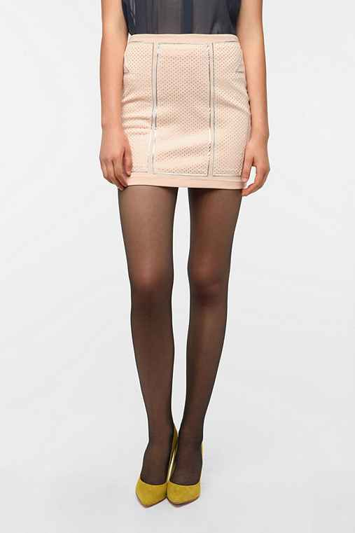 Silence & Noise Robot Bodycon Mini Skirt