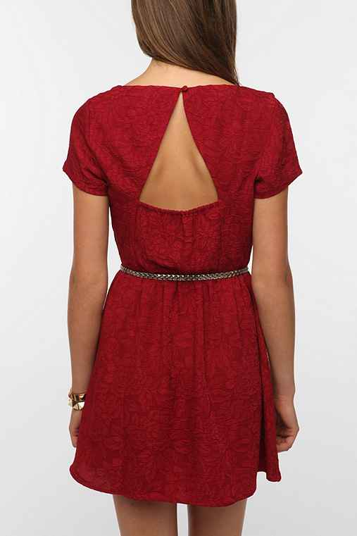 Pins and Needles Silky Jacquard Dress
