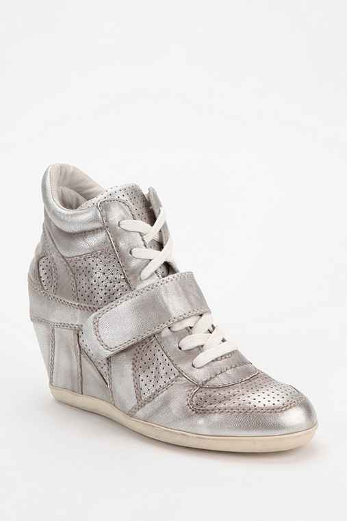 Ash Bowie Metallic Hidden Wedge High-Top Sneaker