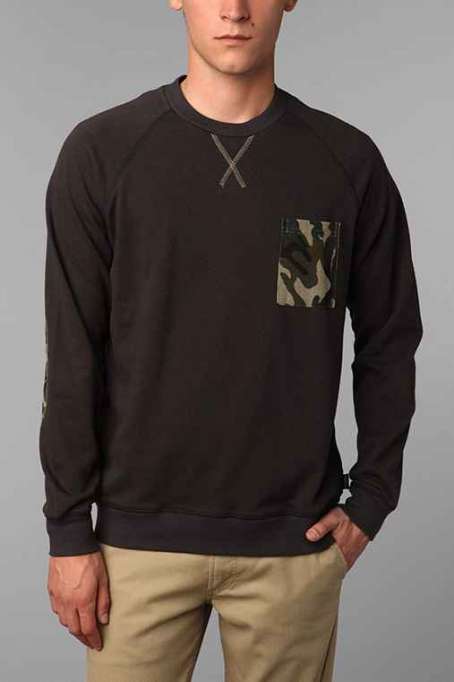 Deter Camo Pocket Crew Sweatshirt