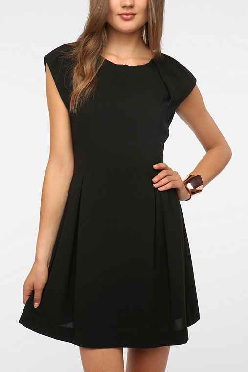 Sparkle & Fade Crepe Strong Shoulder Dress