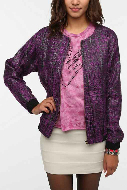 Sparkle & Fade Tweed Bomber Jacket