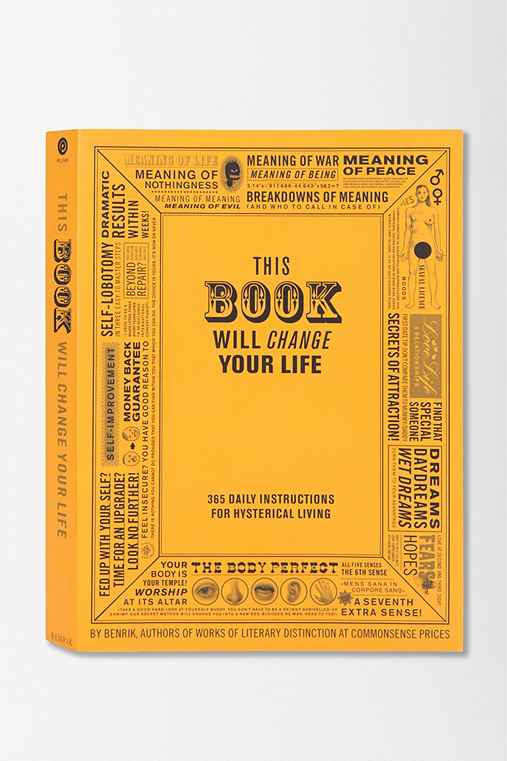 This Book Will Change Your Life By Benrik