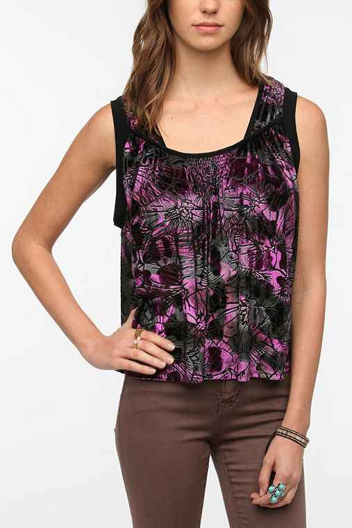 Staring at Stars Burnout Velvet Swing Tank Top