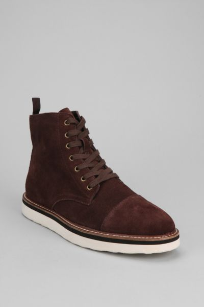 Hawkings McGill Suede Toe-Cap Boot