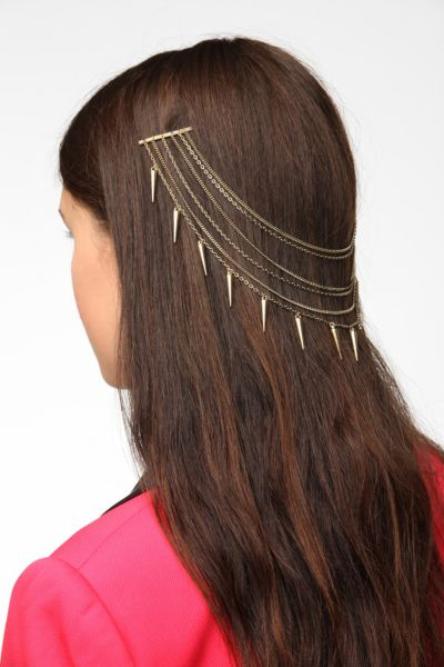 Double Draped-Chain Bobby Pin